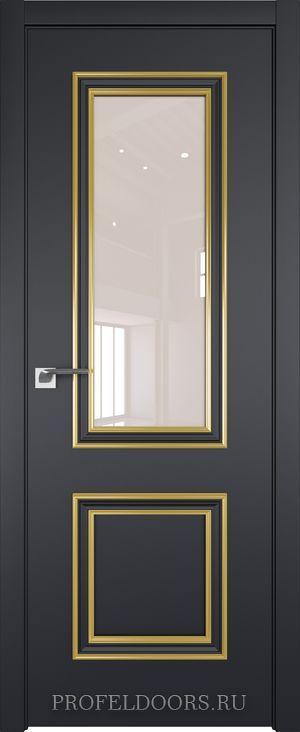 53E Черный матовый Lacobel Перламутровый лак Золото ABS в цвет с 4-х сторон