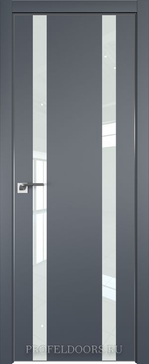9E Антрацит Lacobel Белый лак ABS в цвет с 4-х сторон
