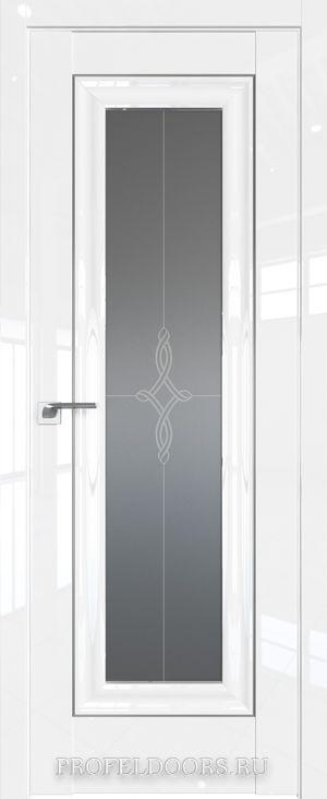 24L Белый люкс Узор графит Серебро