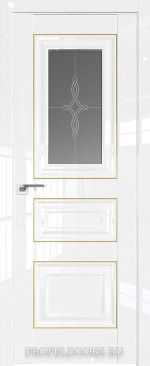 24L Белый люкс Узор графит Золото