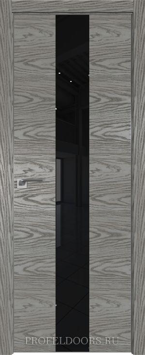 5NK Дуб SKY Белёный Lacobel Серебряный лак ABS черная матовая с 4-х сторон