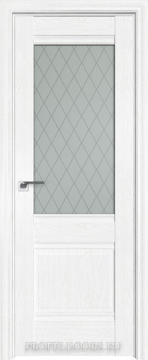 4X Эш Вайт Узор матовое с прозрачным фьюзингом(квадрат)