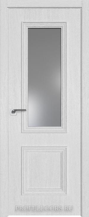 26ZN Грувд серый Lacobel Серебряный лак Матовая с 4-х сторон